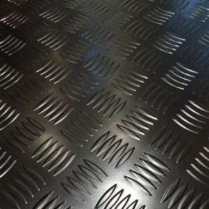 Black Aluminium Chequer Plate