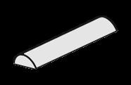 Aluminium Half Round
